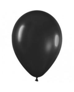 Шар с воздухом черный, 30 см. (080)