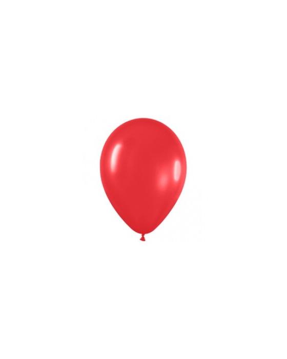 Шар с воздухом красный, 30 см. (015)