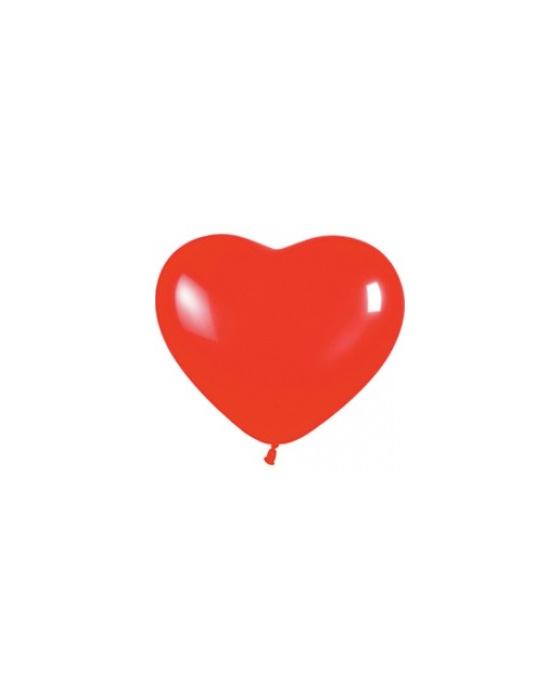 Шар с воздухом сердце, 30 см. (015)
