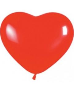 Шары ненадутые, Шар с воздухом сердце, 30 см. (015)