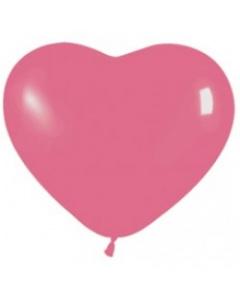 Шары ненадутые, Шар с воздухом сердце, 30 см. (012)