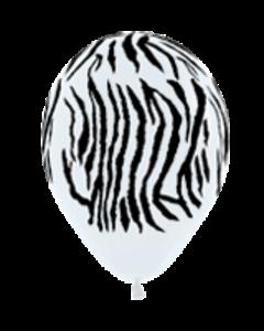 Шары ненадутые, Шар с воздухом зебра, 30 см.