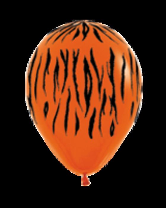 Шар с воздухом тигр, 30 см.