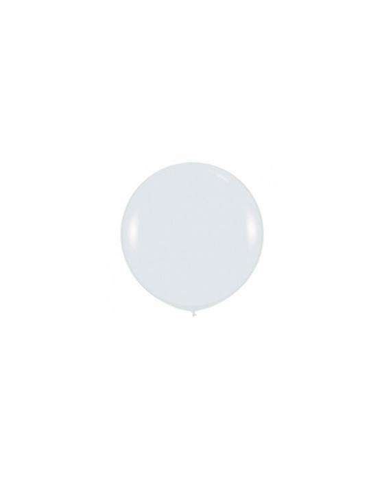 Шар с воздухом белый, 91 см. (005)