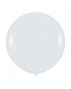 Шары ненадутые, Шар с воздухом белый, 91 см. (005)