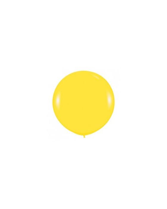Шар с воздухом желтый, 91 см. (020)