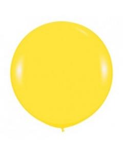 Шары ненадутые, Шар с воздухом желтый, 91 см. (020)