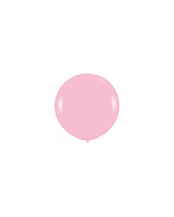Шар с воздухом розовый, 91 см. (009)