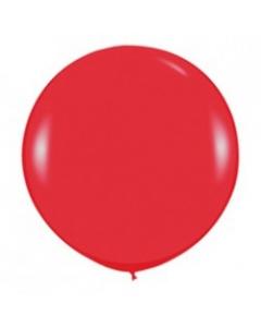 Шары ненадутые, Шар с воздухом красный, 91 см. (015)
