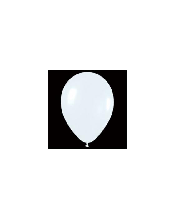 Шар с воздухом белый, 13 см. (005)
