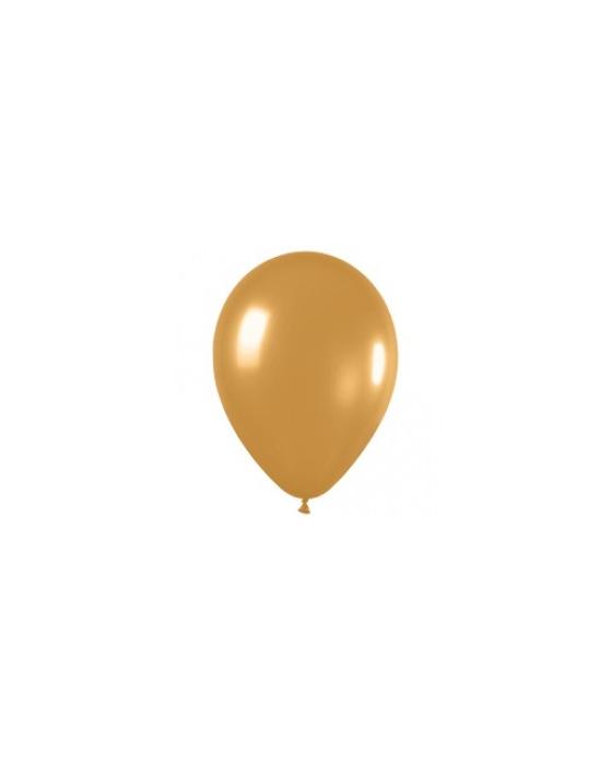 Шар с воздухом золотой, 13 см. (569)