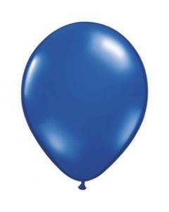 Шары ненадутые, Шар с воздухом синий металлик, 13 см. (020)