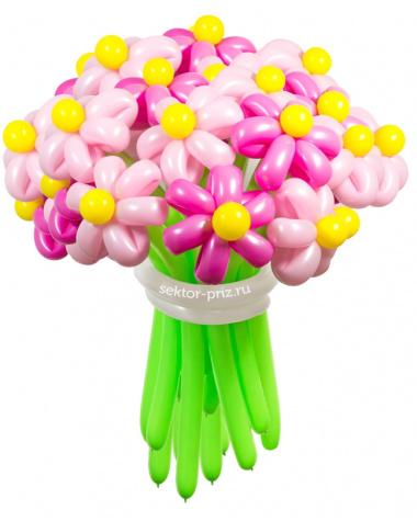 «Барби» — 23 цветка из шаров