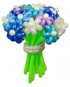 Букеты из воздушных шаров, «Зимний» — 23 цветка из шаров