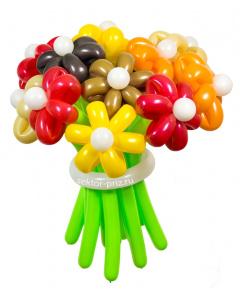 Букеты из воздушных шаров, «Осенний» — 13 цветов из шаров