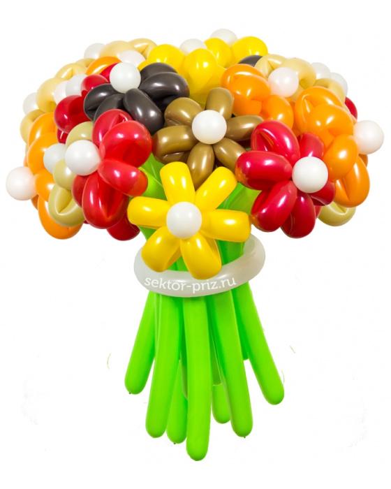 «Осенний» — 23 цветка из шаров