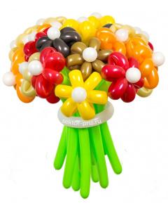Букеты из воздушных шаров, «Осенний» — 23 цветка из шаров