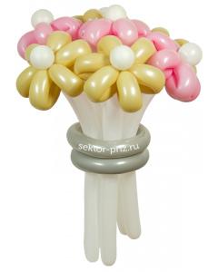 Букеты из воздушных шаров, «Свадебный» — 7 цветов из шаров