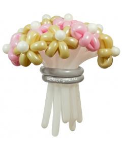 Букеты из воздушных шаров, «Свадебный» — 13 цветов из шаров