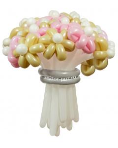 Букеты из воздушных шаров, «Свадебный» — 23 цветка из шаров