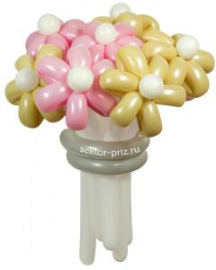 Букеты из воздушных шаров, «Свадебный» — 9 цветов из шаров