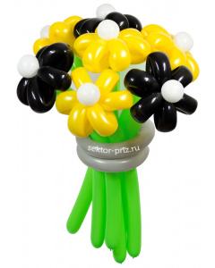 Букеты из воздушных шаров, «Пчёлка Майя» — 7 цветов из шаров