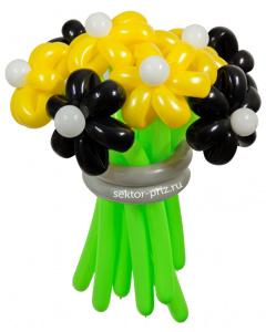Букеты из воздушных шаров, «Пчёлка Майя» — 9 цветов из шаров