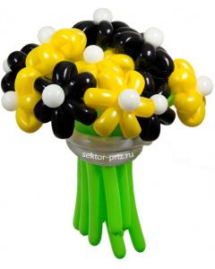 Букеты из воздушных шаров, «Пчёлка Майя» — 13 цветов из шаров
