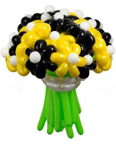 Букеты из воздушных шаров, «Пчёлка Майя» — 23 цветка из шаров