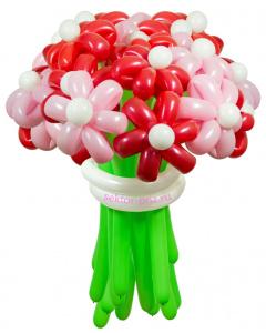 Букеты из воздушных шаров, «Карамельный» — 23 цветка из шаров