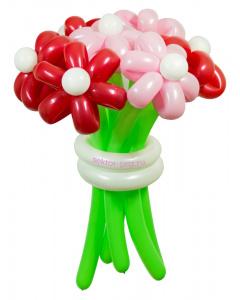 Букеты из воздушных шаров, «Карамельный» — 7 цветов из шаров