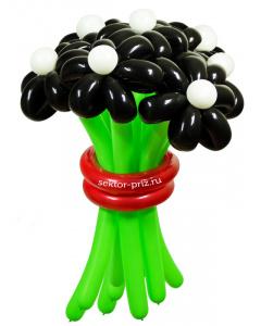 Букеты из воздушных шаров, «Черная жемчужина» — 9 цветов из шаров