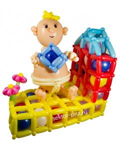 Фигуры из воздушных шаров, Фигура из шаров «Малыш на игровой площадке»