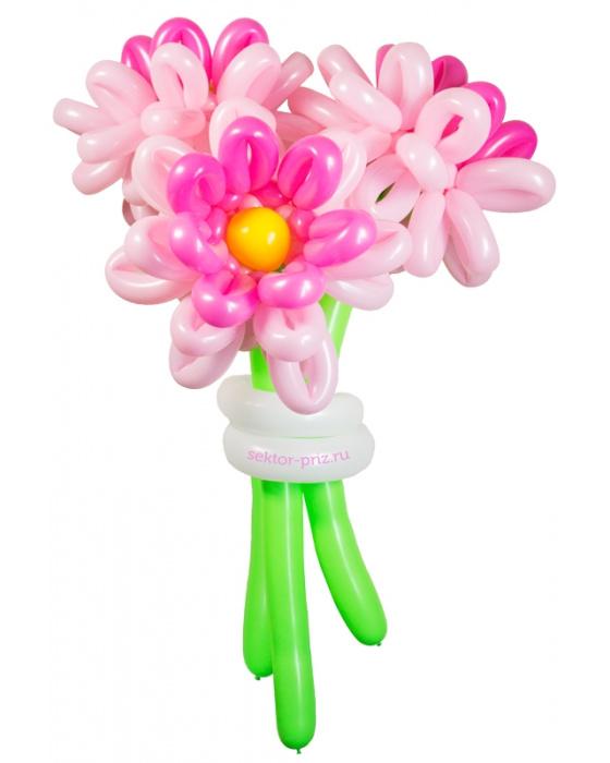 «Хризантемы» — 3 цветов из шаров
