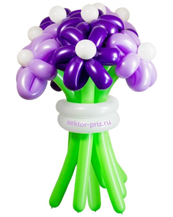 «Фиолетовая дымка» — 11 цветов из шаров