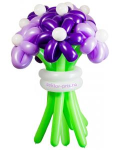 Букеты из воздушных шаров, «Фиолетовая дымка» — 9 цветов из шаров