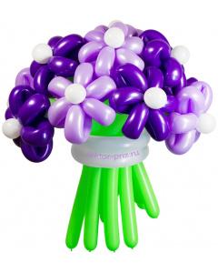 Букеты из воздушных шаров, «Фиолетовая дымка» — 13 цветов из шаров