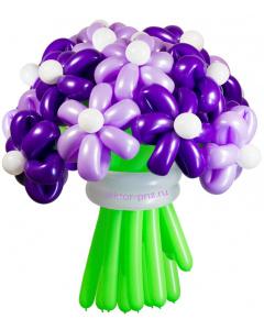 Букеты из воздушных шаров, «Фиолетовая дымка» — 23 цветка из шаров