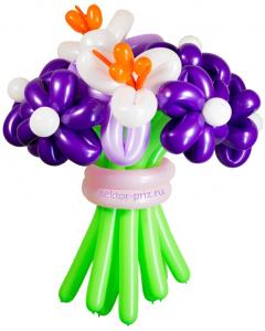 Букеты из воздушных шаров, «Вальс цветов» — 9 цветов из шаров
