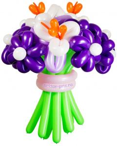 Букеты из воздушных шаров, «Вальс цветов» — 13 цетов из шаров