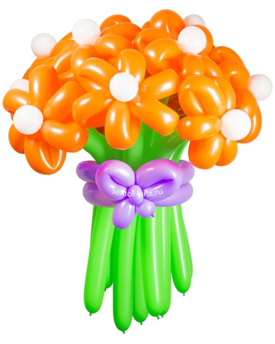 «Солнечная улыбка» — 15 цветов из шаров