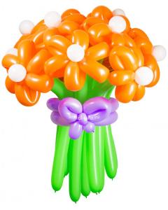 Букеты из воздушных шаров, «Солнечная улыбка» — 13 цветов из шаров