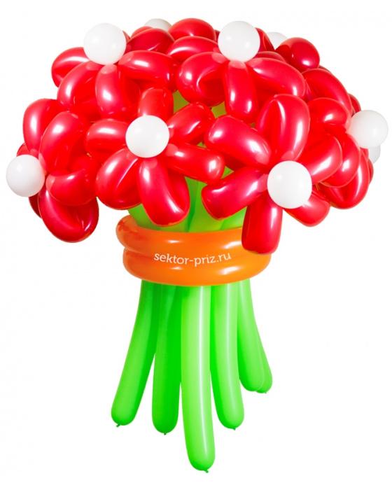 Букеты из воздушных шаров, «Горячий» — 13 цветов из шаров