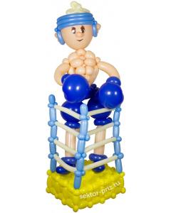 Фигуры из воздушных шаров, Фигура из шаров «Боксер»