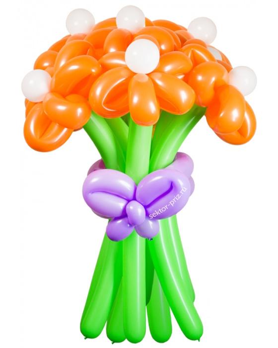 «Солнечная улыбка» — 11 цветов из шаров