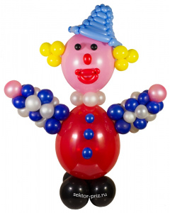 Фигуры из воздушных шаров, Фигура из шаров «Клоун»