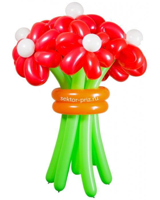 «Горячий» — 7 цветов из шаров