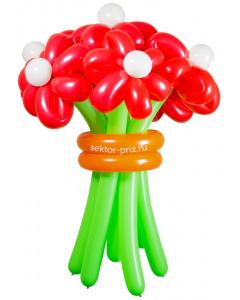 Букеты из воздушных шаров, «Горячий» — 7 цветов из шаров