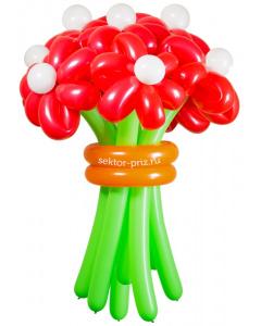 Букеты из воздушных шаров, «Горячий» — 9 цветов из шаров
