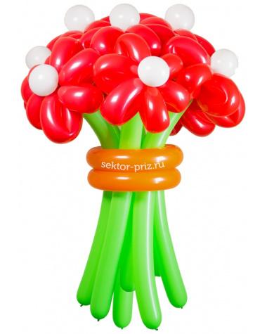 «Горячий» — 11 цветов из шаров